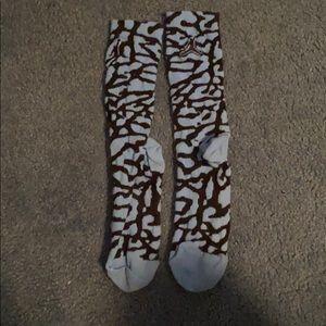 Never worn Jordan socks men's size 6-8
